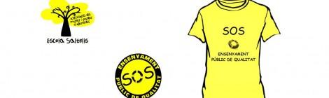 """Samarretes grogues """"SOS Ensenyament Públic"""""""