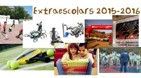 Extraescolars curs 2015-2016, obertes inscripcions!