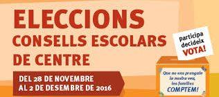 ELECCIONS CONSELL ESCOLAR 2016-2017, PARTICIPA!!!