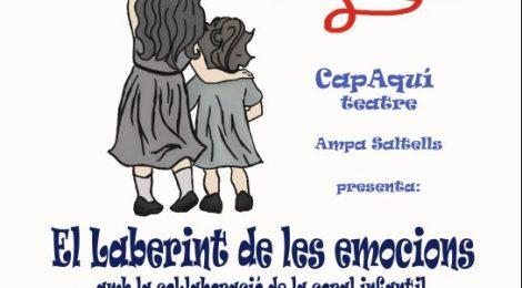 El laberint de les emocions, amb el grup de teatre de l'AMPA i la coral infantil del Saltells